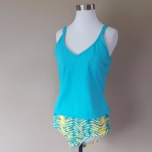 Bathing Suit Blue Two Piece Size 16 and 16W